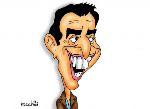 """El Partido Renovador Federal Distrito Chaco le dice """"no"""" al impuesto a las ganancias. L�der del FR, Sergio Massa. (Dibujo: NOVA)"""
