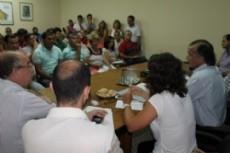 La reuni�n del Ejecutivo con los gremio docentes por el acuerdo salarial.