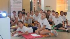 Uno de los grupos de ni�os que participaron del ciclo sobre diversidad cultural.