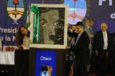CFK junto a Peppo en su visita a la provincia.
