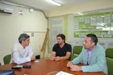 Jos� Ignacio Saife recibi� al vicepresidente de Chaco Golf Club, Diego Eidman y al director General del Circuito, Fabi�n Lencinas.