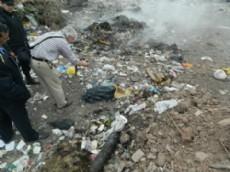 Los restos fueron hallados por una persona que recorr�a el basural (Imagen ilustrativa).