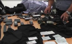 Material incautado al reciente detenido.