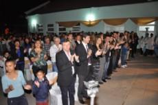 Domingo Peppo presente en el acto por el aniversario de la Escuela N� 51 Teniente Ib��ez.