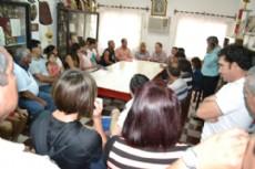 A�da Ayala reunida con dirigentes deportivos en el club Progresista de Villa �ngela.