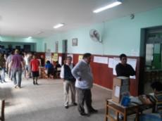 Total normalidad en las distintas escuelas donde se vota. (Foto NOVA)