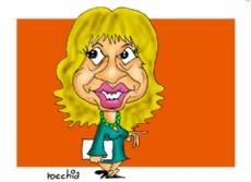 A�da Ayala, intendeta de Resistencia y precandidata a gobernadora por Vamos Chaco (Dibujo: NOVA)