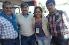 Alberto Nievas, Gustavo Mart�nez y Mart�n Nievas festejan y agradecen la gesti�n de Capitanich.