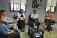 Peppo y Monfardini se reunieron para debatir sus propuestas educativas para el interior de la provincia.