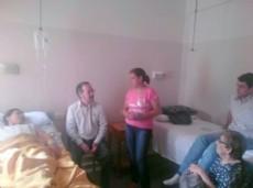 Mirtha Castello internada, recibi� la visita del legislador Mart�nez.