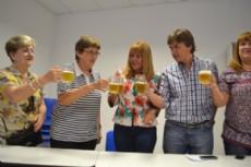 A�da Ayala en la presentaci�n de la fiesta de la cerveza (Imagen de archivo).