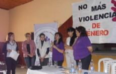 Charla de la Multisectorial de la Mujer en Pampa del Infierno.