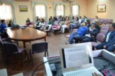 Intendentes reunidos durante la firma del convenio por el programa perteneciente al Ministerio de Educaci�n de la Naci�n.