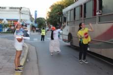"""Arranc� la campa�a """"Fiestas sin Excesos"""" por las calles de Resistencia."""