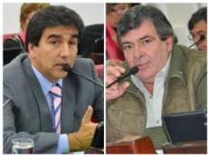 Ricardo S�nchez y Carim Peche firmantes el comunicado por la suspensi�n de la sesi�n legislativa.