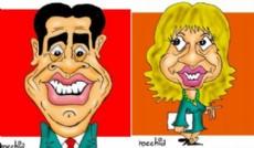 Jorge Capitanich y A�da Ayala. (Dibujos: NOVA)