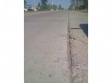 La ruptura del pavimento de la Avenida Belgrano.