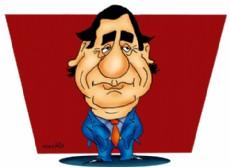 �ngel Rozas, senador nacional por el Chaco (Dibujo: NOVA).