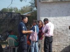 La escuela tomada por los padres, donde tuvo que intervenir la polic�a.