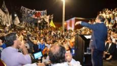 Scioli habl� ante una multitud de chaque�os de cara a las elecciones.