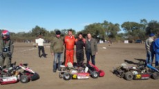Bergia y Korovaichuk durante la inauguraci�n del kart�dromo de Gancedo.