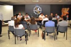 La Fechaco reunida con el coordinador del Plan Construir, Ernesto Borchichi.