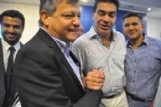 Peppo con Coqui en Casa de Gobierno de Resistencia.